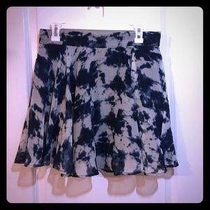 Tye dye print mini skirt
